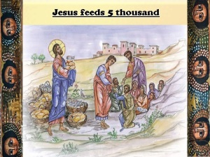 Jesus feeds 5 thousand