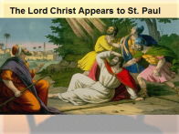 Lord appears to Paul