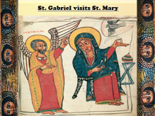 Saint Gabriel visits St Mary