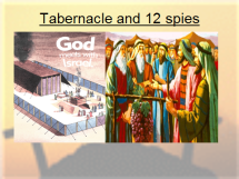 Tabernacle and 12 spies