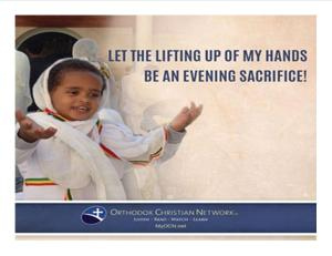 Lifting of hands-
